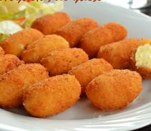 Croquetas de papa y queso