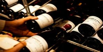 Vendimia: muestra sobre etiquetas de vino